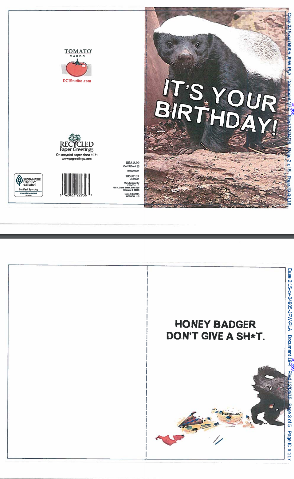 honey badger birthday